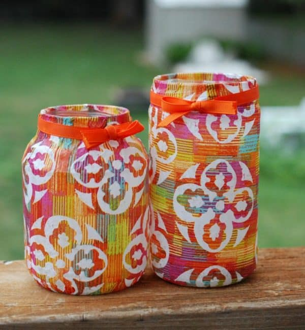 Wrapping Ideas  like covering upcycled jars or cans to use is fun, and kid-friendly, too!