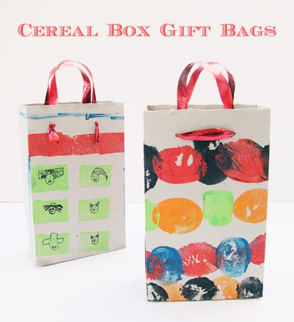 Wrapping Ideas turn cereal boxes into great gift bags!