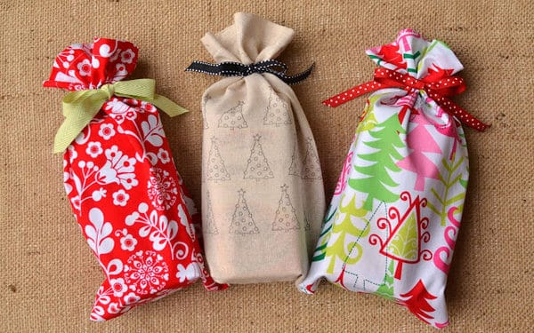 Wrapping Ideas turn old cloth into gift bags!