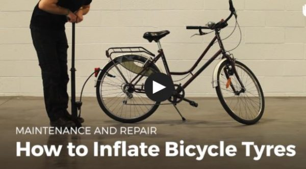 Inflating Bicycle Tires will be a snap using the DIY Video Tutorial