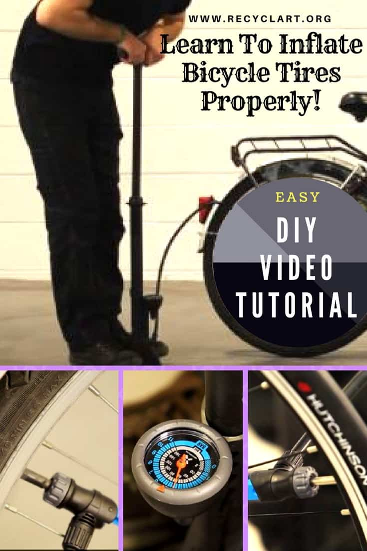 Diy Video Tutorial Inflating Bicycle Tires Recyclart