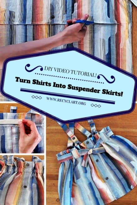 Diy Video Tutorial: Make This Suspender Skirt Using Old Shirts