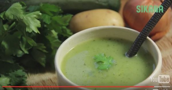 Zucchini Soup looks delicious! Add a sprig of cilantro or parsley and you're ready to go! Simple and easy.
