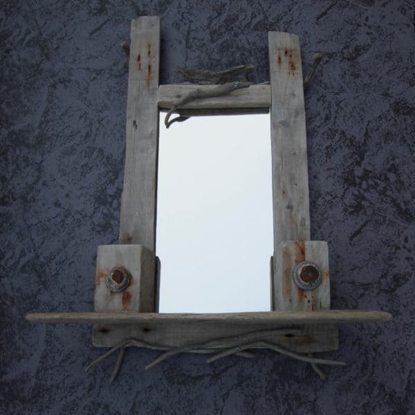 Driftwood Mirror Frame: The Eyes Have It!