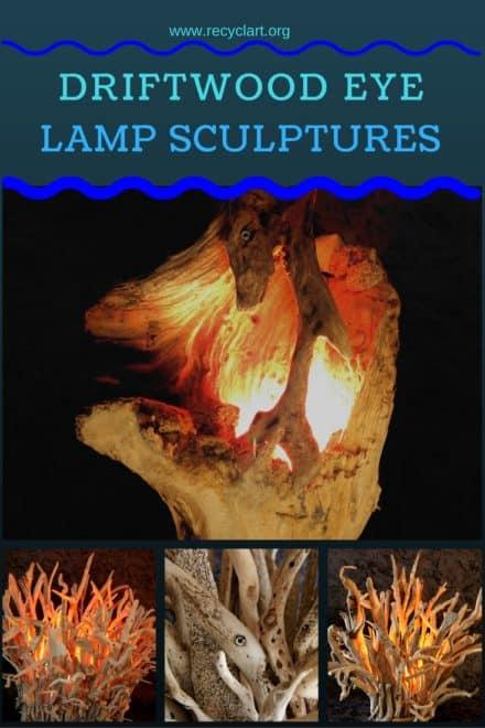 Naturally Beautiful Driftwood Eye Lamps