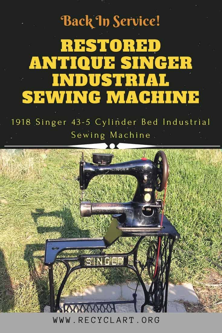 Singer treadle sewing machine restoration