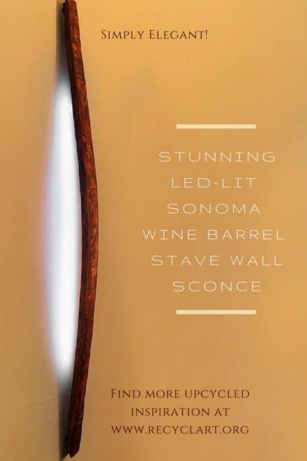 Sonoma Wine Barrel Stave Led Sconce
