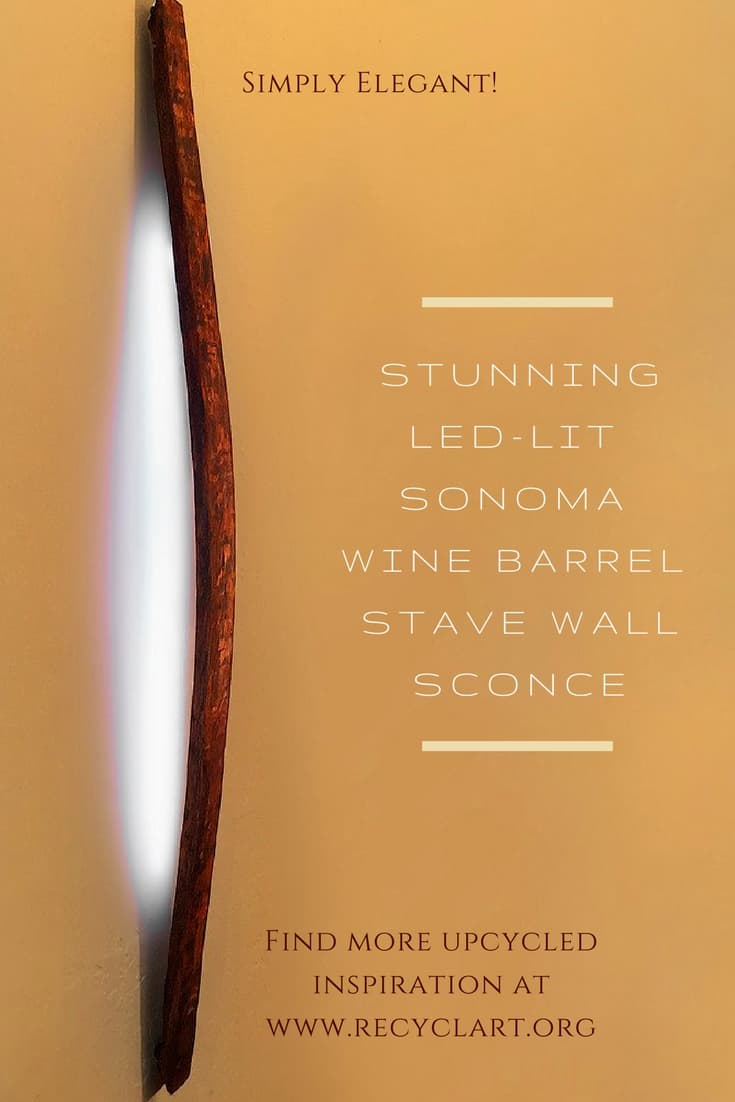 Sonoma Wine Barrel Stave Led Sconce Recyclart
