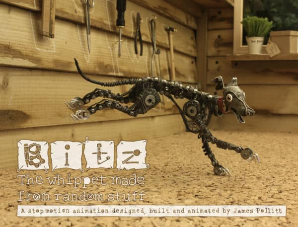 Stop-motion Video:  Upcycled Mechanical Whippet Puppet Interactive, Happening & Street Art Recycled Art Recycling Metal
