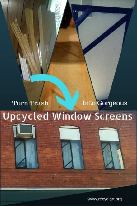 Turn Trash Into Gorgeous Window Screens!