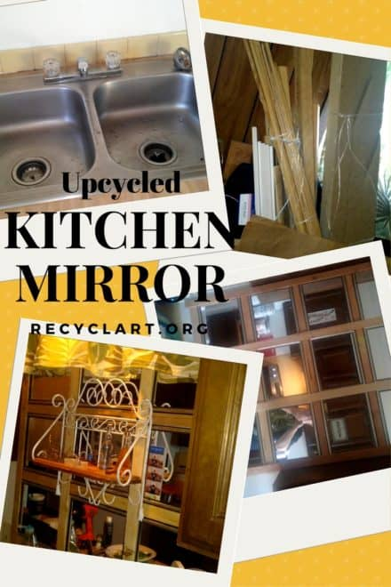 Upcycled Kitchen Mirror Makes Room Look Huge!