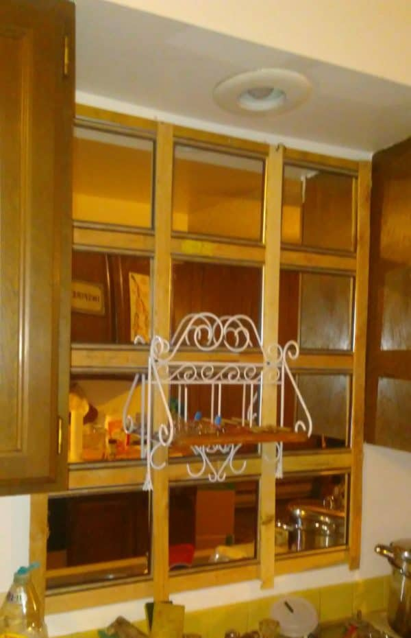 Upcycled Kitchen Mirror Makes Room Look Huge! Home Improvement Wood & Organic