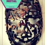 Upcycled Metal Mask Sculpture From Machine Shop Cutoffs!