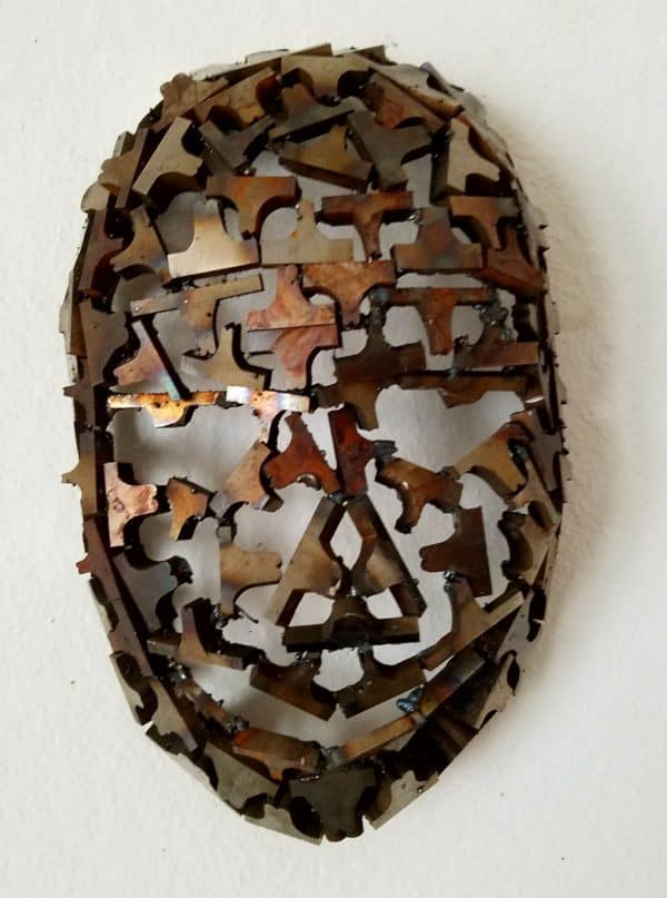 Upcycled Metal Mask Sculpture From Machine Shop Cutoffs! Home & décor Recycling Metal
