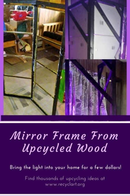 Upcycled Mirror Frame Helps Plants Grow!