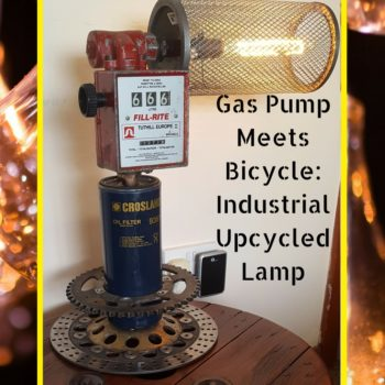 Cool Upcycled Petrocycle Industrial Lamp