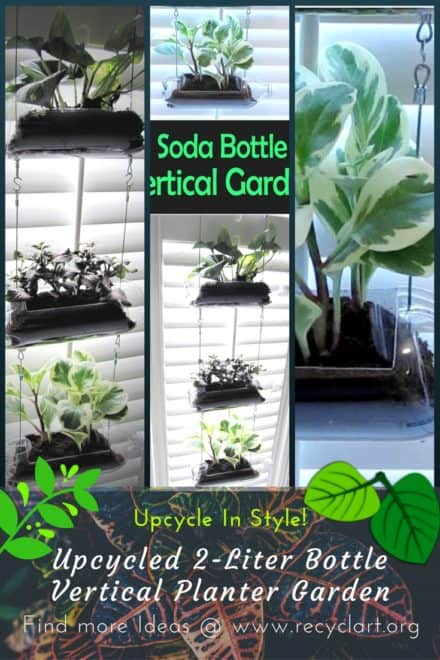 Diy Video Tutorial: Upcycled Soda Bottle Vertical Garden