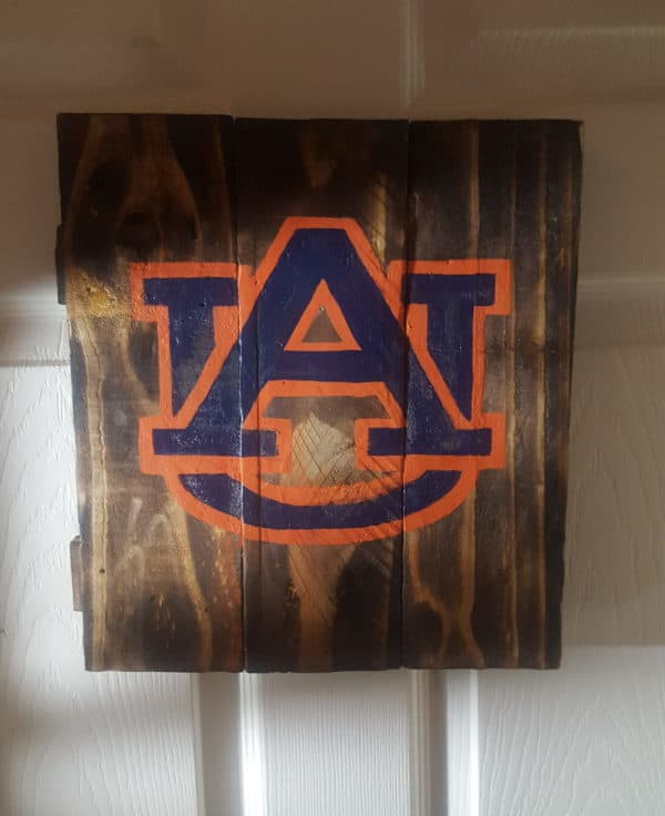 Cheer on your favorite teams or make the ultimate Man Cave Hand Painted Pallet Plaques.