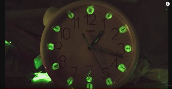 You're eclipse-ready, or zombie-apocalypse ready with this Glow-in-the-Dark Clock.