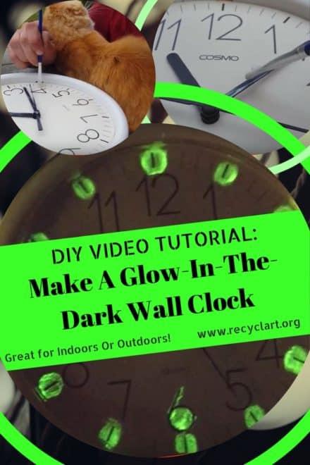 Diy Video Tutorial: Rust-oleum Glow-in-the-dark Clock