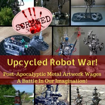 Post-apocalyptic Metal Robot Art Haunts Your Future