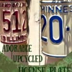 Turn Old Plates Into License Plate Planters