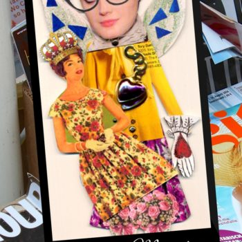 Upcycled Magazine Paper Doll Art: Fun With The Kids