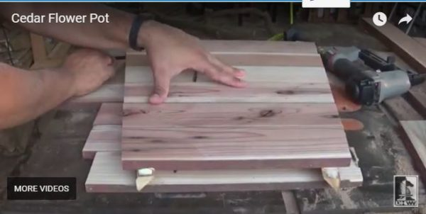 Diy Video Tutorial: Reclaimed Cedar Flower Pot Diy video tutorials Garden Ideas Wood & Organic