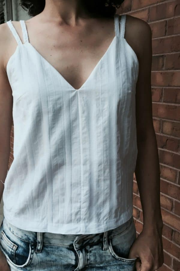Creative upcycling will reward you with this adorable Tank Top made from upcycled men's dress shirts. You'll even use the seams from the shirt to create the shoulder straps.