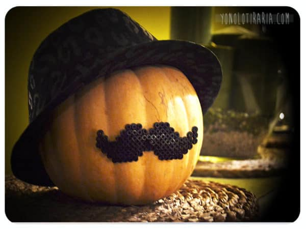 Add to your Halloween 2017 decor with this mustached pumpkin!