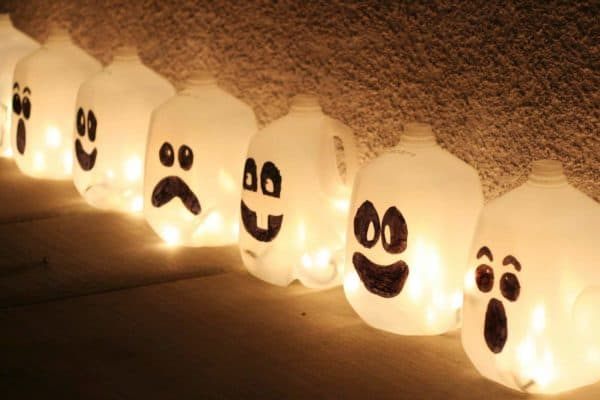 Light up your Halloween 2017 with these lit up Jug-o-lanterns.