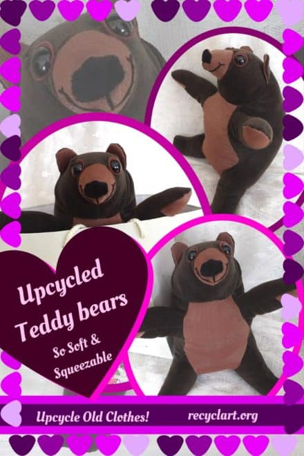 Lovable Huggable Upcycled Teddy Bears