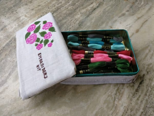 Diy Embroidery Box can be made from any small box you have lying around.
