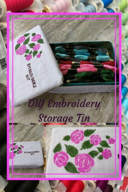Quick, Easy Diy Embroidery Box Is Pretty Storage Solution