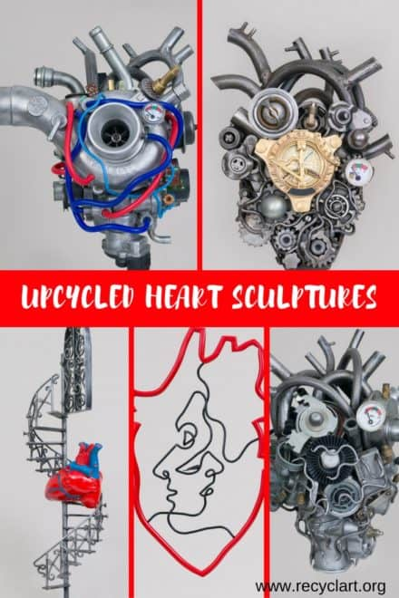 The Heart Upcycled Interpretations Using Mixed Media