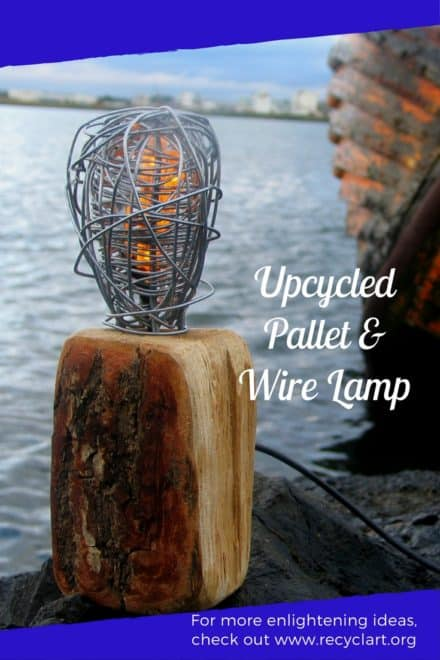 Twisted Wire Pallet Lamp Upcycles Two Products