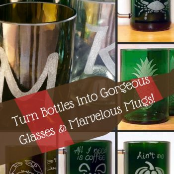Upcycled Etched Glasses Made From Bottles