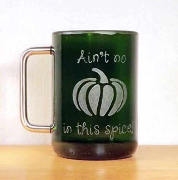 Sugar and spice, and everything nice...or not so nice like this adorable coffee mug in an anti-pumpkin-spice theme!