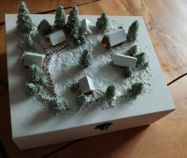 This Winter Model Village is a perfect project to do with the kids.
