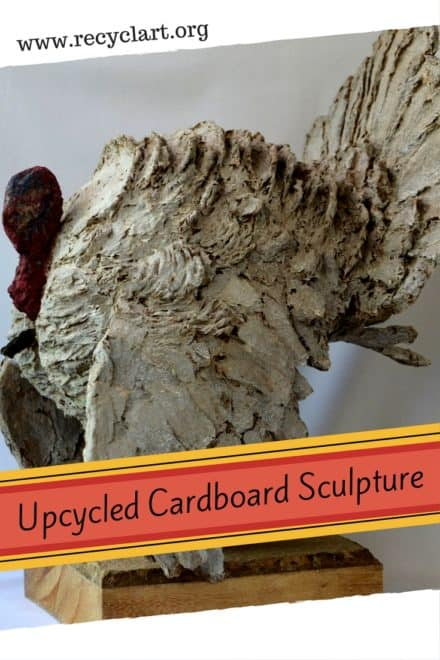 Amazing Recycled Cardboard Turkey Sculpture