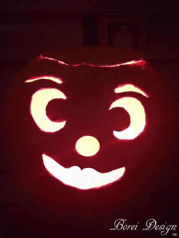 Make this Jack O' Lantern spooky or sweet - your choice!
