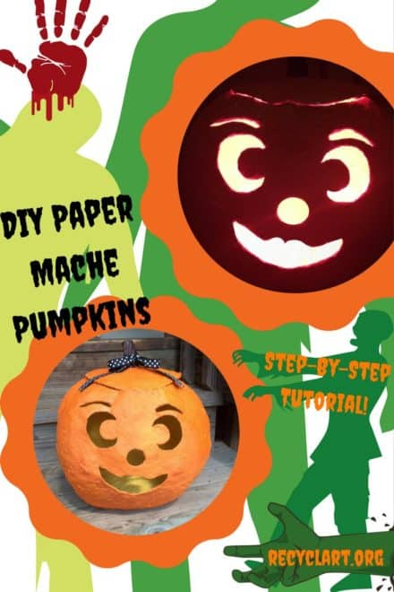 Paper Mache Jack O' Lantern
