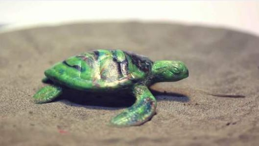 Trash Becomes Super-cute Recycled Plastic Turtles! Recycled Plastic