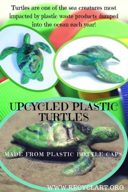 Trash Becomes Super-cute Recycled Plastic Turtles!