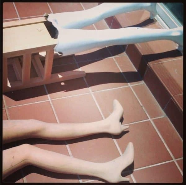 Start with some upcycled mannequin legs and create a Mannequin Leg Side Table.