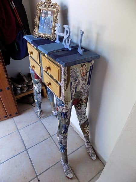 Weird, Wonderful Mannequin Leg Side Table Recycled Furniture