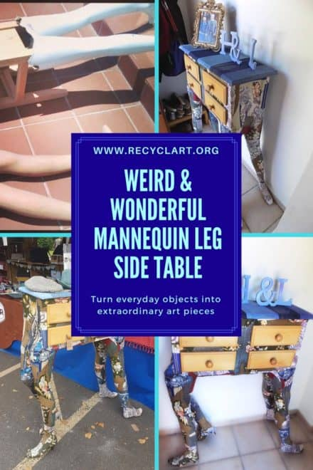 Weird, Wonderful Mannequin Leg Side Table