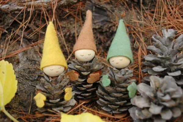Turn old pinecones and felt into adorable Christmas Decorations that resemble gnomes.