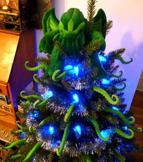 You can share your divergent tastes and make an ususual themed Christmas Trees idea like this cthulhu tree!