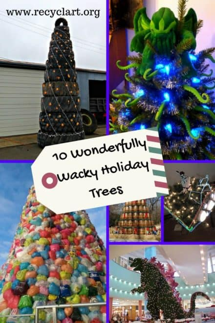 10 Weird Christmas Trees Made Using Alternative Materials